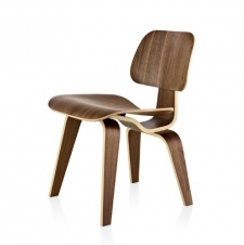 Eames? Molded Plywood Dining Chair with Wood Legs
