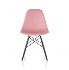Molded Plastic Side Chair with Dowel-Leg Base